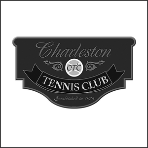 Grayscale Logo Charleston Tennis Club