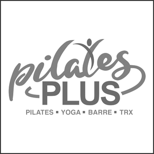 Grayscale Logo Pilates Plus