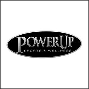Grayscale Logo Power Up Sports logo