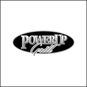 Grayscale Logo PowerUp Grill