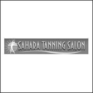 Grayscale Logo Sahara Tanning Salon